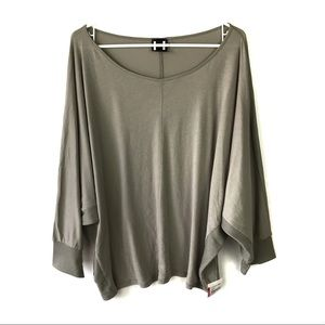 H by Bordeaux Batwing Oversized Top